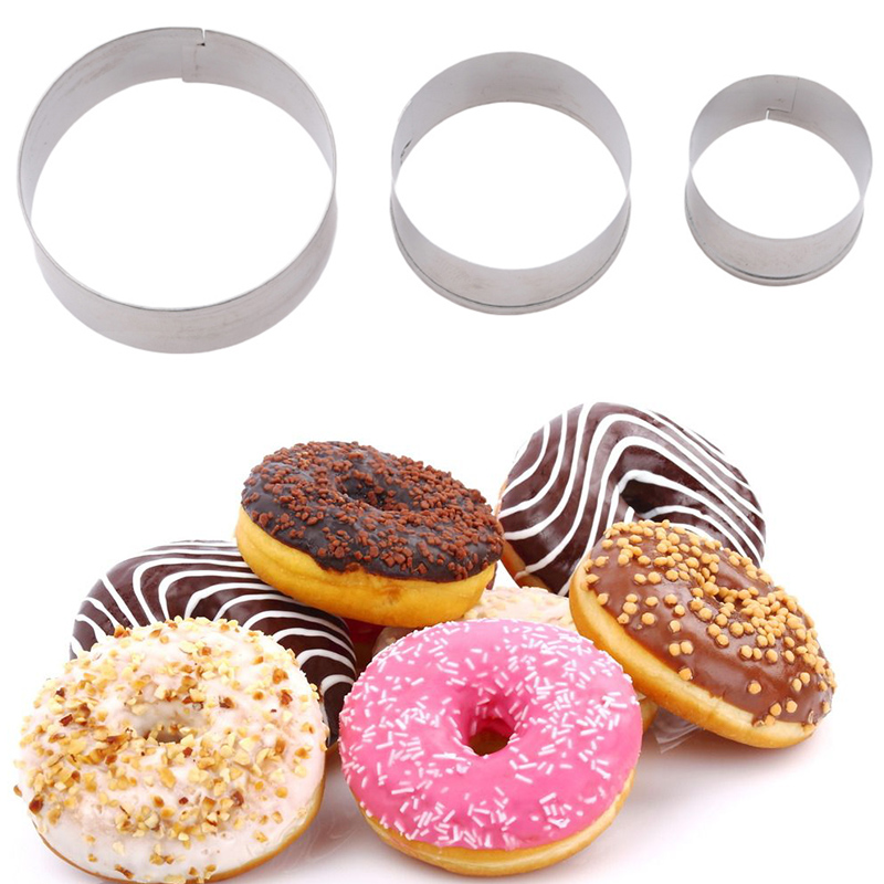 Bakeware 3pcs/set Stainless Steel Round Circle Cookie Mousse Cake Ring Cake Gum Paste Mould Layer Slicer Diy Wedding Cake Tools Complete Range Of Articles Home & Garden
