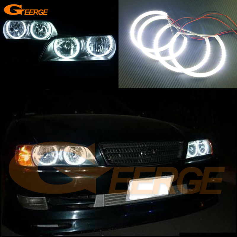 For Toyota Chaser Avente JZX100 Tourer 1996 1997 1998 1999 2000 2001 Excellent Ultra bright smd led Angel Eyes Halo Ring kit for nissan laurel club s c35 1997 1998 1999 2000 2001 2002 excellent multi color ultra bright rgb led angel eyes kit halo rings