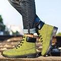AD AcolorDay Moda Botas Militares de Camuflaje de Los Hombres Zapatos de Invierno Botas de Motocicleta Del Tobillo Botas de Felpa Zapatos de Los Hombres Calzado de Madera