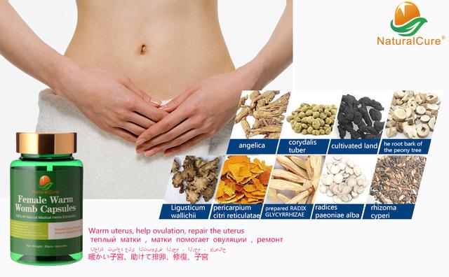 NaturalCure Curar La Infertilidad Femenina, Tapas Calientes femeninos-Útero-dulos, MC curar Dolor y Regular La Ovulación, eficaz y sin Carga
