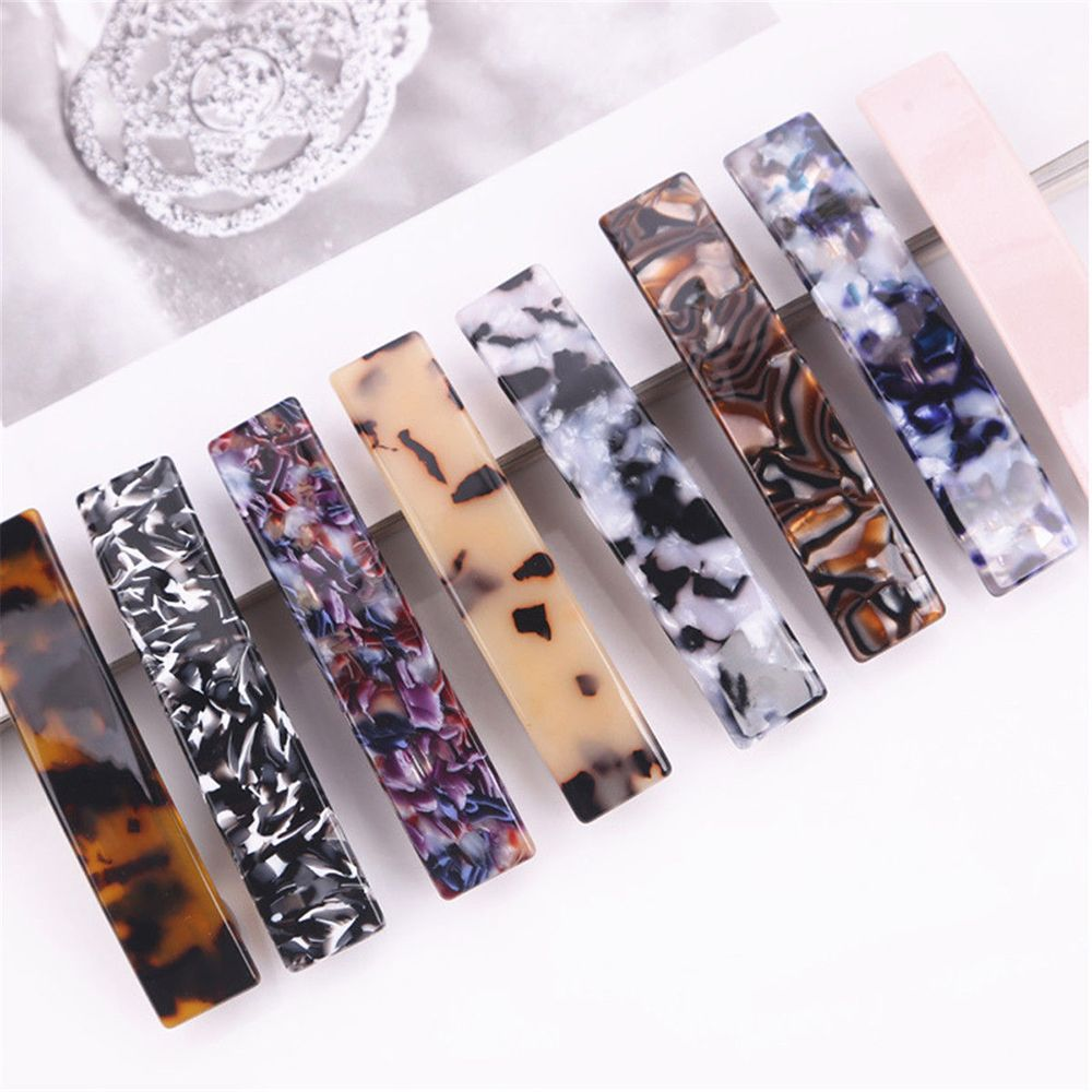 New Women Vintage Hair Accessorie Leopard Hair Clip Geometric Square Shape Hairpin Clips Hair Styling Dropshipping