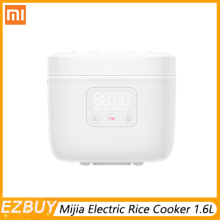 Xiaomi Mijia Electric Rice Cooker 1.6L Small Rice Cooker  Appointment 1~2 People Kitchen Mini Machine Intelligent LED Display rice cooker intelligent 1 3 people mini small household fully automatic student pot 2l non stick liner 24 hours appointment