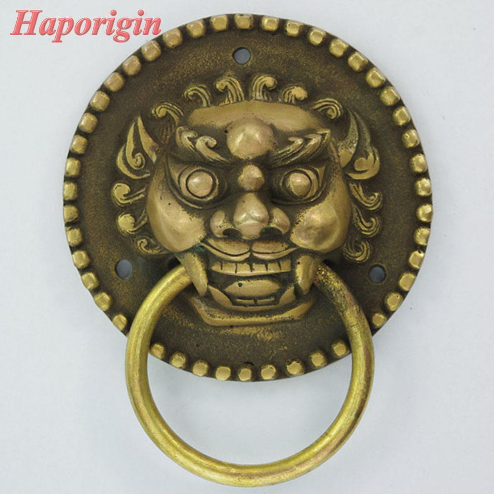 2xLionhead Door Pulls Antique Kitchen Cabinet Drawer Handles Chienes Furniture Cabinet Knob Vintage Closet Cupbord Cabinet  Pull 128mm phoenix kitchen cabinet antique hanles furniture dresser vintage knob cabinet cupboard closet drawer handle pulls rongjing