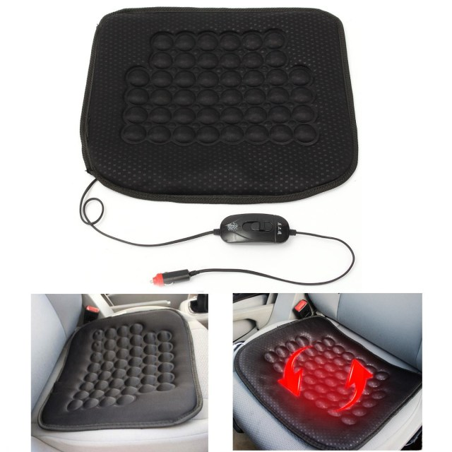 Universal 12V Electric Car Front Seat Heated Cushion Thermal Pad Warmer Cover Sticker