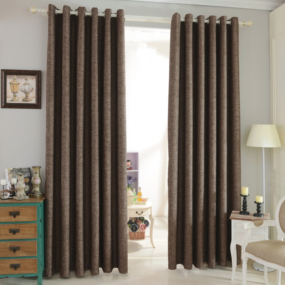 For faux blackout curtain curtains window shade treatments living room window modern full bedroom Blackout linen drapes curtain
