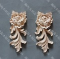4PCS/LOT  5.5*6.5*1.5cm European Solid Rubber Wood Carved Door Trim Drawer Rose Flower Decals