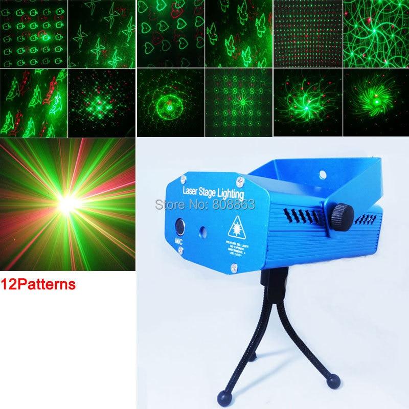 xl90 new mini Red Green Laser heart 12 patterns projector Party DJ Lighting lights Disco bar