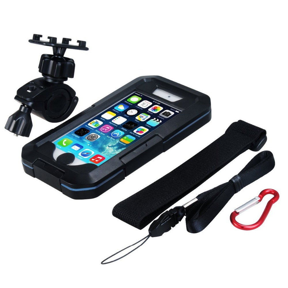 Waterproof Motorcycle Phone Holder For Samsung Galaxy S9 S8 Plus S7 S6 Edge S5 Bike Holder Armor Bag For Support Telephone Moto