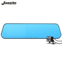 Jansite Coche DVR de doble cámara Del Coche dvr de Hd 1080 P de Vídeo grabadora de Espejo Retrovisor Con cámara de visión Trasera Del Automóvil Espejo DVR Dash cam