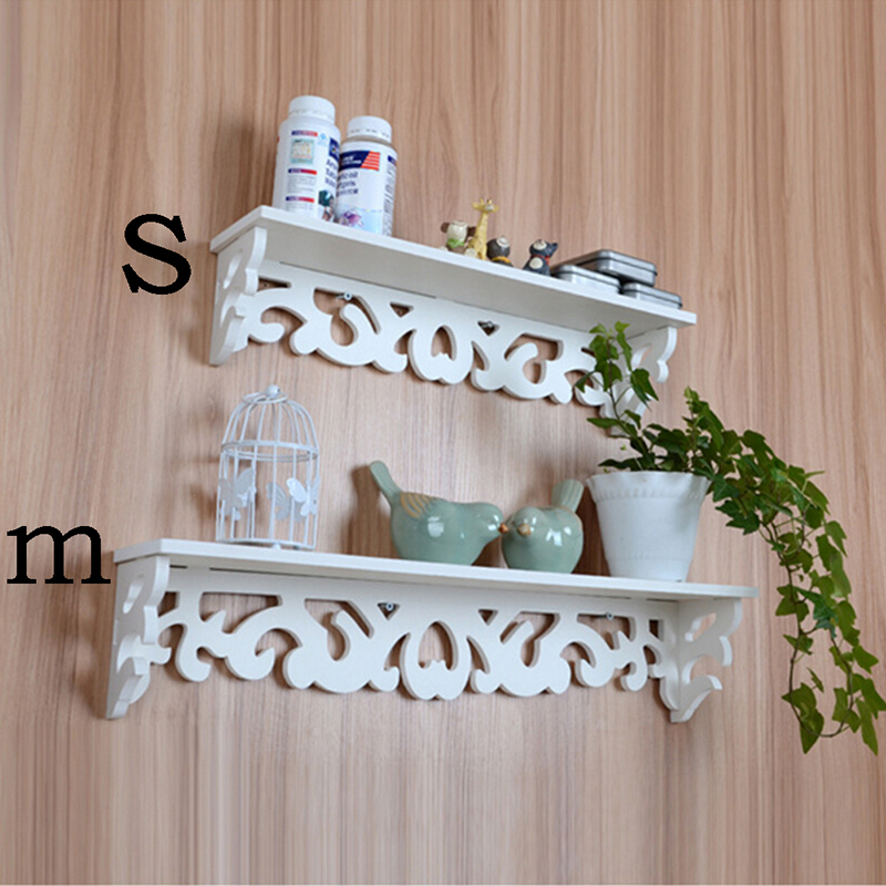 Mengxiang 1 Pc White Wall Hanging Shelf Goods Convenient