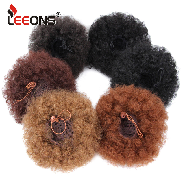 Leeons Claw Clip Ponytail Hair Extensions Drawstring Natural Hair Ponytail Pony Tail Puff Hair Synthetic Kinky Straight Ponytail