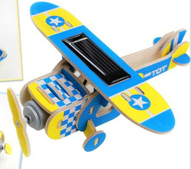 Wholesale Behalf Wooden Solar Powered Aircraft Model Airplane