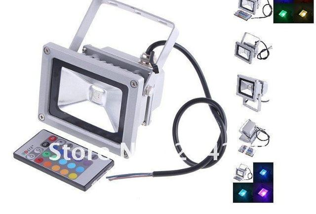 20W 85-265V RGB LED Flood Light Projection lamb Flash Landscape Floodlight Outdoor Color Change