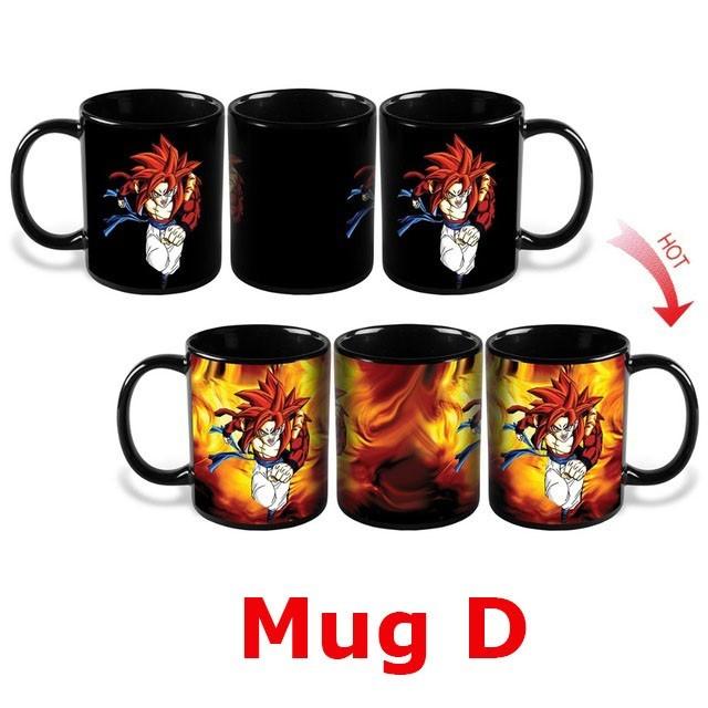Dragon Ball Z Super Saiyan Son Goku Changing Colors Heat Reactive Magic Coffee Mugs