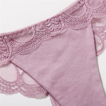 3Pcs Panties Sexy G-String Underwear Lace Briefs For Women Fashion Floral Panty Female Lingerie Low-Rise Brief Ladies Thong L XL 3