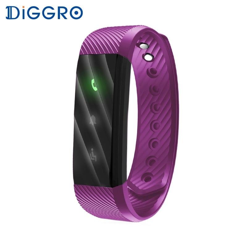 imágenes para Diggro ID115 Lite Smart Brecelet Banda Simple de Tres colores LED luz indicadora de Bluetooth Deporte Inteligente Pulsera para Android IOS