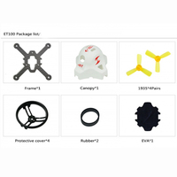 JMT ET100 ET115 ET125 Mini Ducted Frame KIT True X Style Frame With Propellers Canopy For