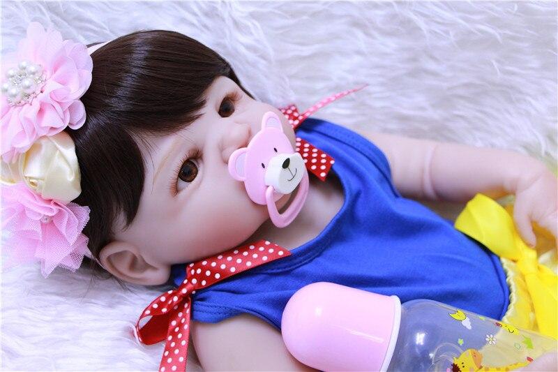 NPK 22 полное тело силиконовые Возрожденные куклы для малышей милая девочка bebes reborn bonecas для детские подарочные игрушки куклы реальные живые bonecas - 5