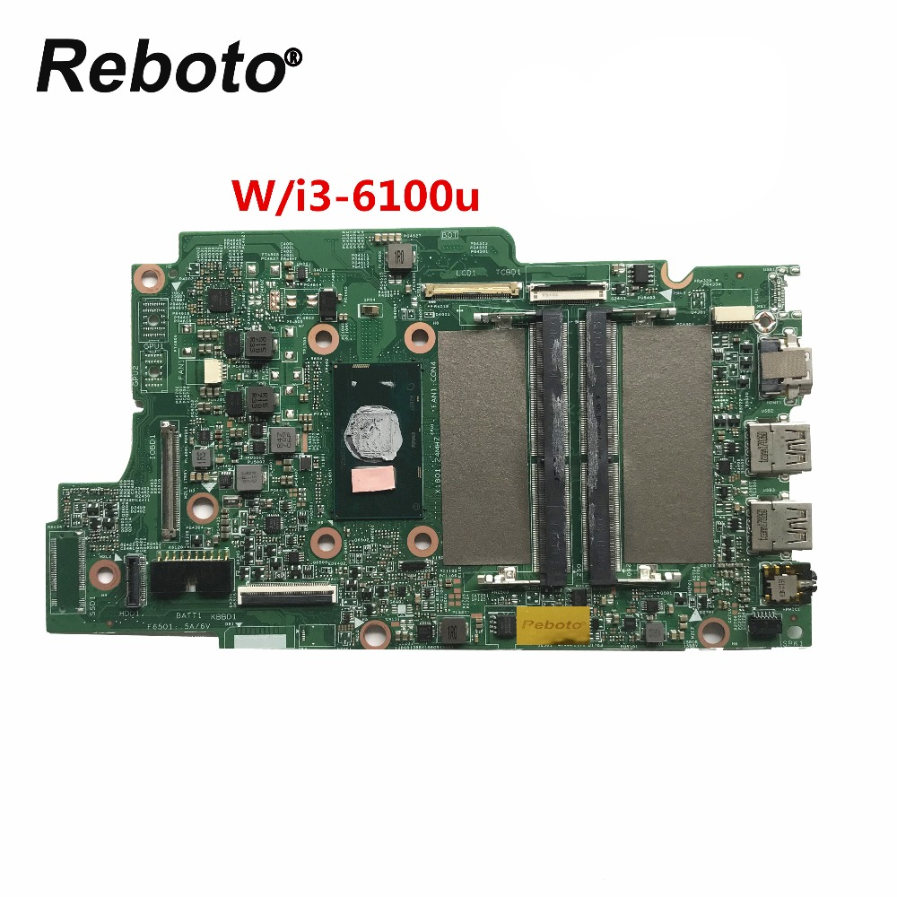 CN 0JV40X For DELL INSPIRON 5368 5568 Laptop Motherboard 0JV40X JV40X With SR2EU I3 6100u CPU