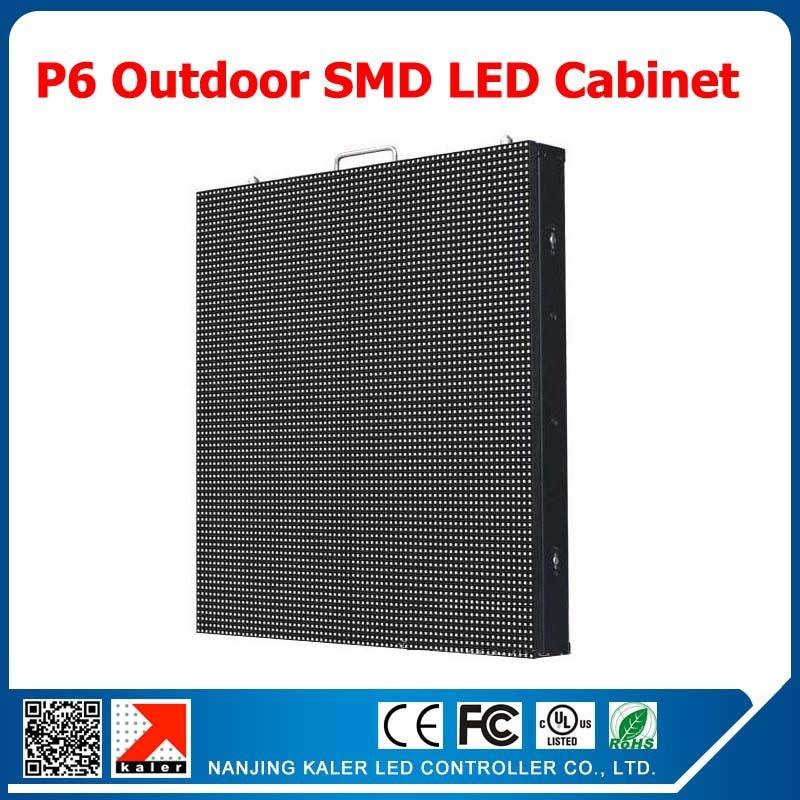 Kaler P6 Outdoor Full Color Led Display Cabinet 768*768mm Waterproof Rental Led Cabinet P6 Outdoor Led Display Screen