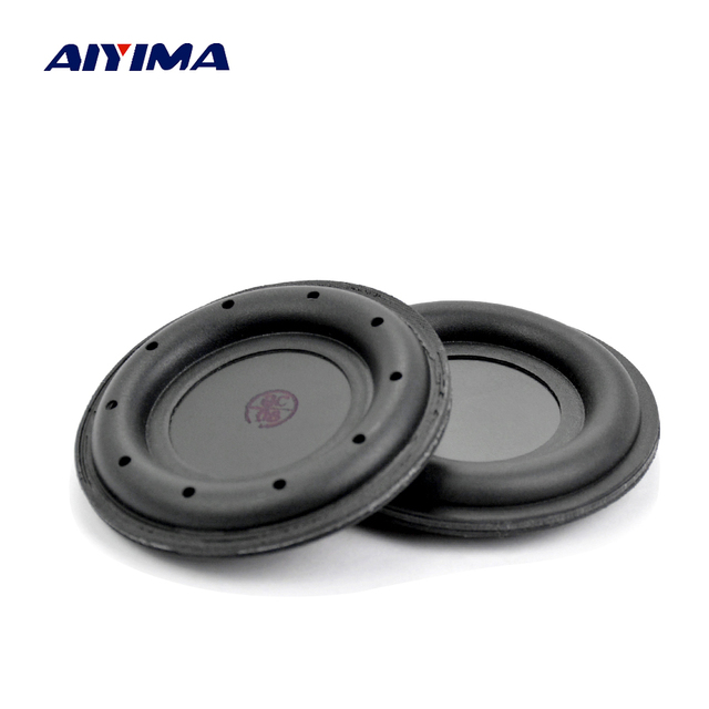 aiyima 2pcs 2inch rubber edge passive radiator speaker low frequency