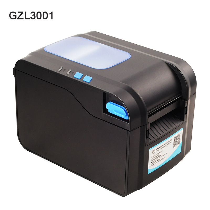 GZL3001 Thermal barcode printer Sticker Paper USB Label printer Qr code printer can print 20mm-82mm width paper 127mm/s speed thermal printer free 1 printer paper for contec multi parameter patient monitor