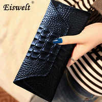 Dropshipping Genuine Leather Women Long Purse Female Clutches Money Wallets Design Handbag for Cell Phone Card Holder Wallet