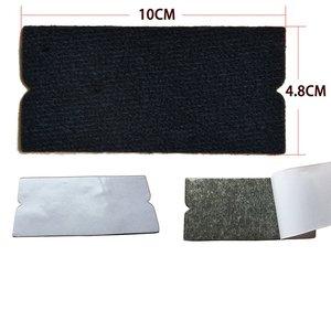 Image 3 - Foshio 10 pçs filme de vinil envoltório do carro feltro tecido + 3pcs fibra carbono rodo raspador para limpeza janela matiz ferramentas de envolvimento automático