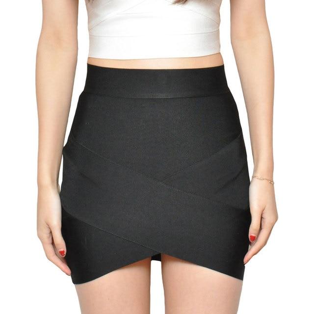¡Novedad de 2019! Mini faldas elásticas de cintura alta, faldas ceñidas sexys para chicas, faldas de moda para mujeres, vestido tubo