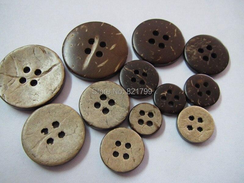 Bouton unique émail de noix de coco bouton 40mm brown déclaration bouton manteau et veste