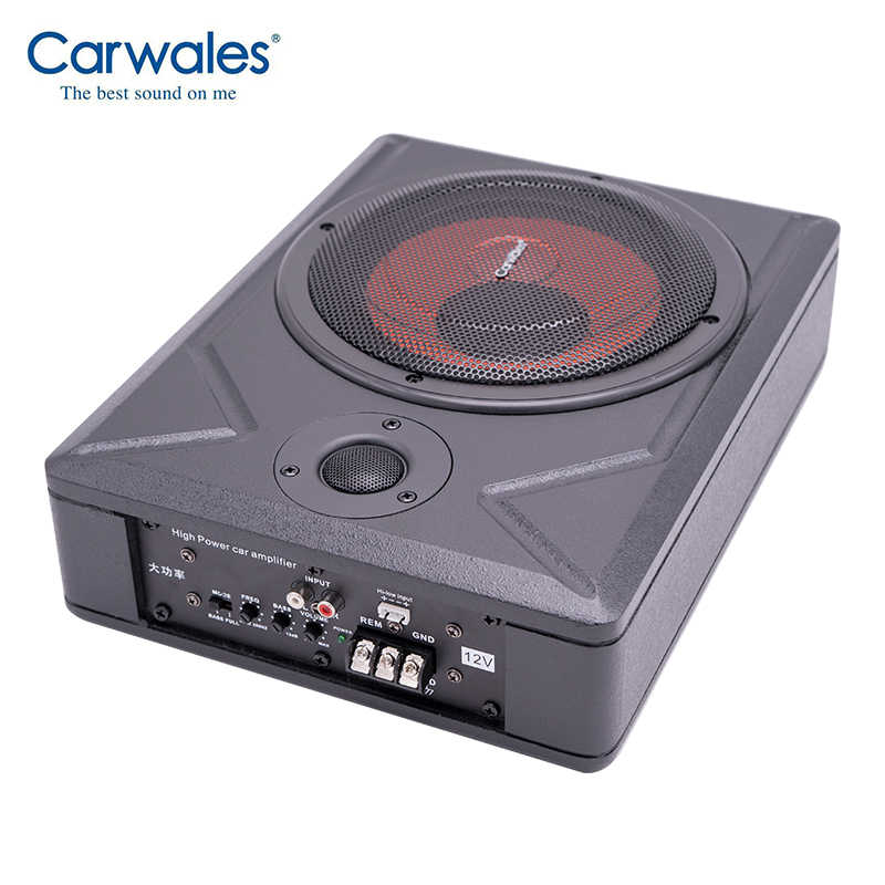 "Carwales 8 Inch Car Ultra-thin 8"" Subwoofer Amplifier Speaker High Power 300W Vehicle Under Seat Active Bass Audio with Treble"