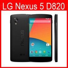 Oryginalny Google LG Nexus 5 D820 telefon komórkowy 3G 4G GPS Wifi NFC Quad Core 2GB RAM 16GB odblokowany telefon odnowiony
