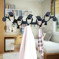 The door hook strong creative traceless hook bathroom towel hanger nail free back door hanger ten hooks