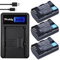Probty 3 unids 2650 mah lp-e6 lpe6 lp e6 batería + cargador usb lcd para canon 5d mark ii/iii 6d 7d 60d 70d 60da dslr eos 5DS