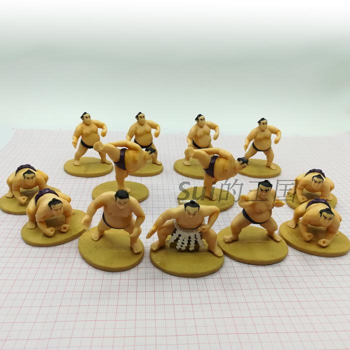 pvc figure A sumo wrestler with base character model ornaments dolls toys 13pcs/set pvc figure scene dolls ornaments character model scene ki ss band decoration toy gift 3pcs set out of print only one set