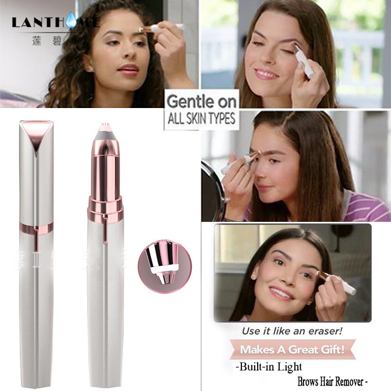 Electric Face Brows Hair Remover Epilator Tools Mini Eyebrow Shaver Instant Painless Portable Eyebrow Trimmer Dropshipping flawless kaş bıyık tüy epilasyon aleti