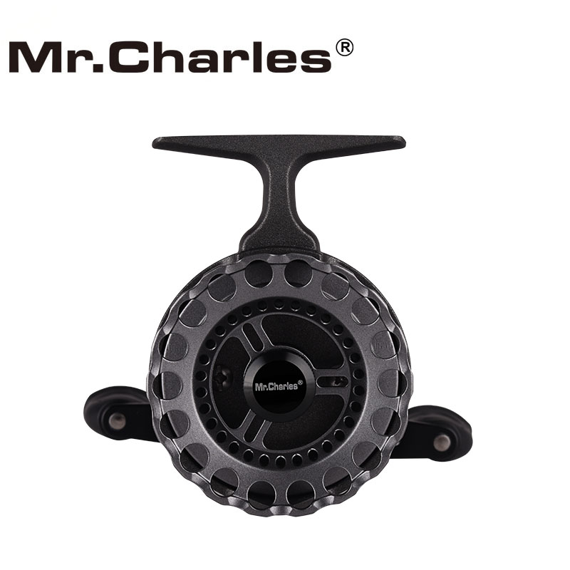 Mr.Charles New NND-H65 Color: grey Gear ratio 3.6:1   Strong plastic body Fly Fishing Reel Raft Ice Fishing Reel