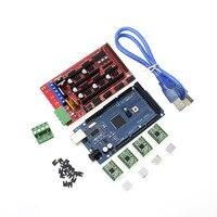 Mega 2560 R3 1pcs RAMPS 1 4 Controller 5pcs A4988 Stepper Driver Module RAMPS 1 4