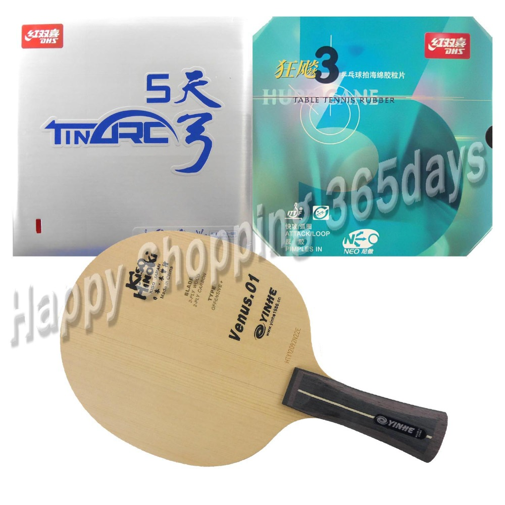 Pro Table Tennis PingPong Combo Racket Galaxy YINHE Venus.1 with DHS TinArc 5 and NEO Hurricane 3 Long Shakehand FL galaxy yinhe emery paper racket ep 150 sandpaper table tennis paddle long shakehand st