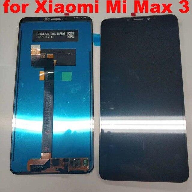 6.9 بوصة شاشة الكريستال السائل ل XIAO mi mi ماكس 3 شاشة الكريستال السائل مجموعة المحولات الرقمية لشاشة تعمل بلمس ل Xiao mi Max3 العرض الأصلي أجزاء