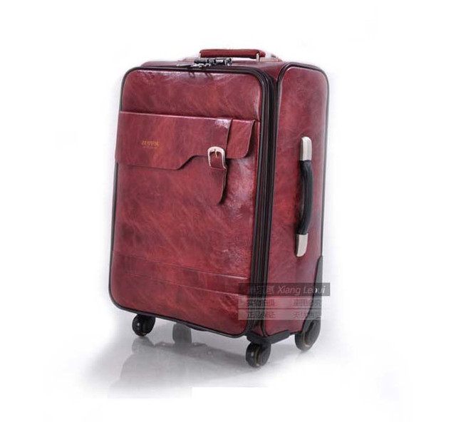 2017 SHIPPING By EMS PU Trolley luggage trolley suitcase case travel luggage with trolleys rolling luggage 24 inch MALETAS