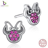 2017 Presents 925 Sterling Silver Red Mickey Shape Sparkling Minnie Compatible With Pan Jewelry Special Store