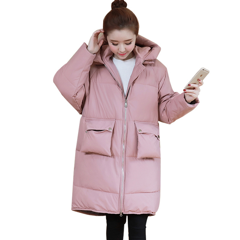 Winter Jacket Women Pregnant Oversized Coats Thick Long Parka Hooded Loose Outwear Cotton Winter Coat Women Manteau Femme C3811 pregnant women winter coats thick warm cotton jacket new fashion women coat knit patchwork long sleeve loose hooded jacket g2834