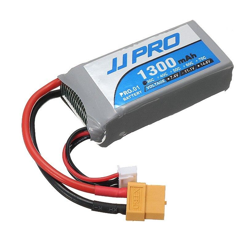 цена на Rechargeable Lipo Battery JJPRO-P01 Power 11.1V 1300mah 30C 3S Lipo Battery XT60 Plug