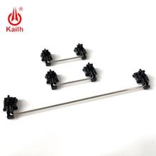 حافظة سوداء مثبتات مثبتة على لوحة Kailh لمفاتيح الشوكولاته 1350 لوحات مفاتيح ميكانيكية 2u 6.25u