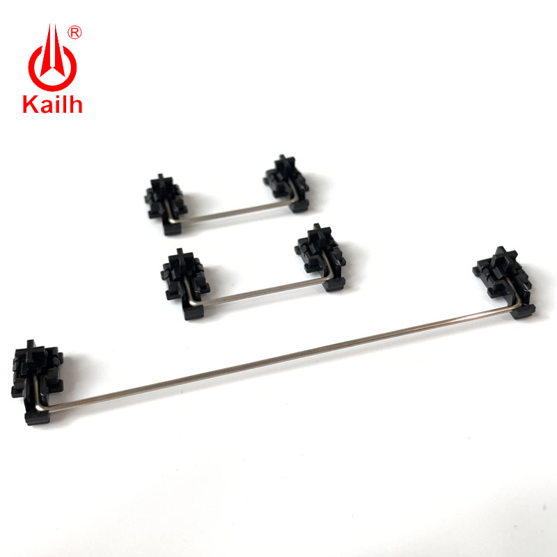 Kailh plate mounted stabilizers black case  for 1350 Chocolate Switches Mechanical Keyboards 2u 6 25u