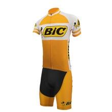 BIC cycling jersey Men short sleeve Orange black Cycling Set road bike wear  clothing Summer Breathable caf20eb28
