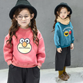 baby girls clothes child sweatshirt kids cartoon graphic patterns print thickening sweatshirt plus velvet sweatshirts