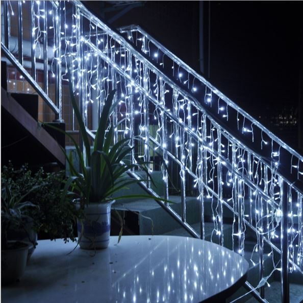 4m 96 led christmas lights outdoor garland led icicle curtain string light fairy holiday home wedding decoration eu220vus110v in led string from lights