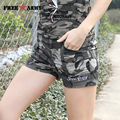 Shorts Jeans New Arrival Cotton Shorts Women 2017 Summer New Army Camouflage Multi-Pockets Cargo Trousers Short For Feminino